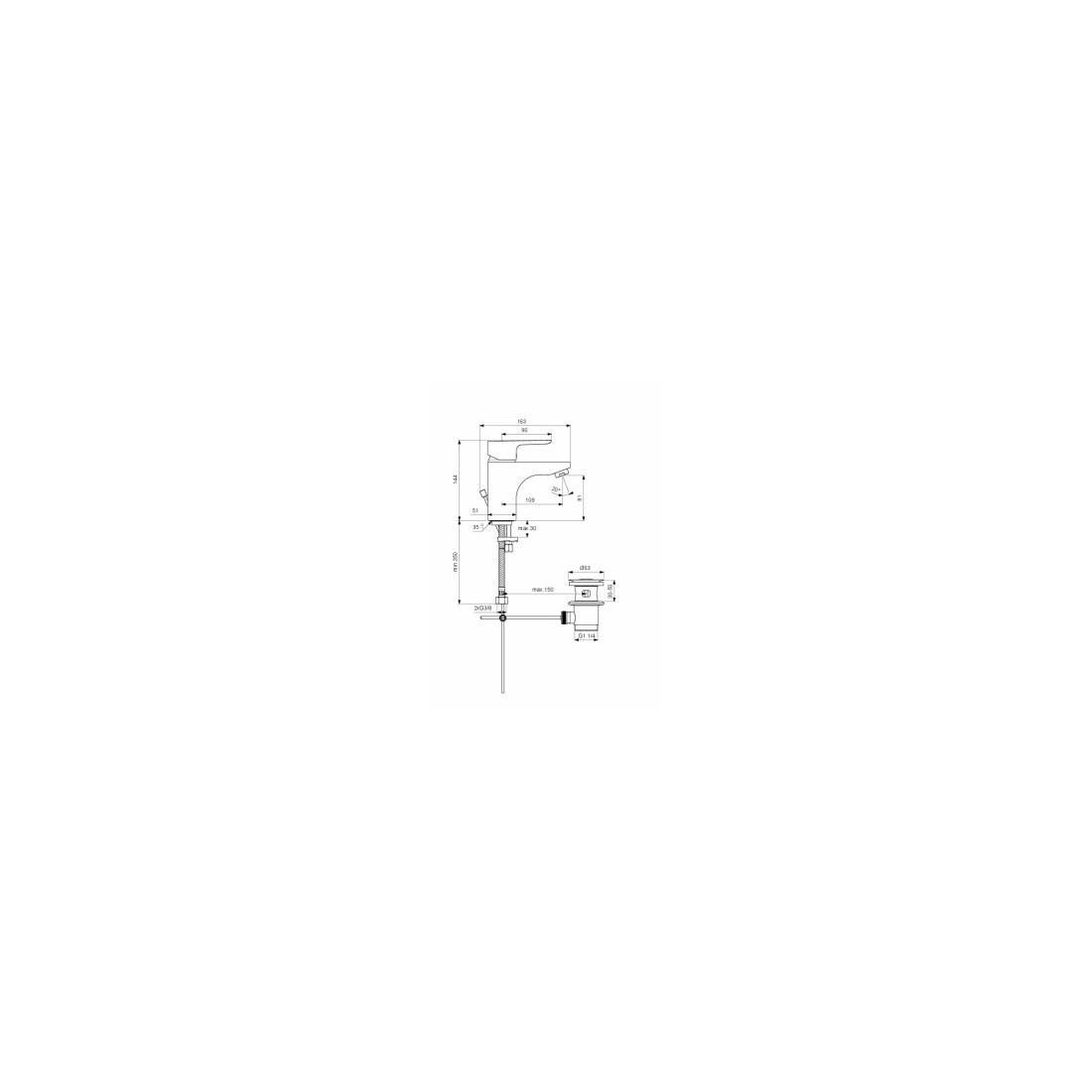 Maišytuvas Ideal Standard, Ceraplan III, praustuvui, Grande
