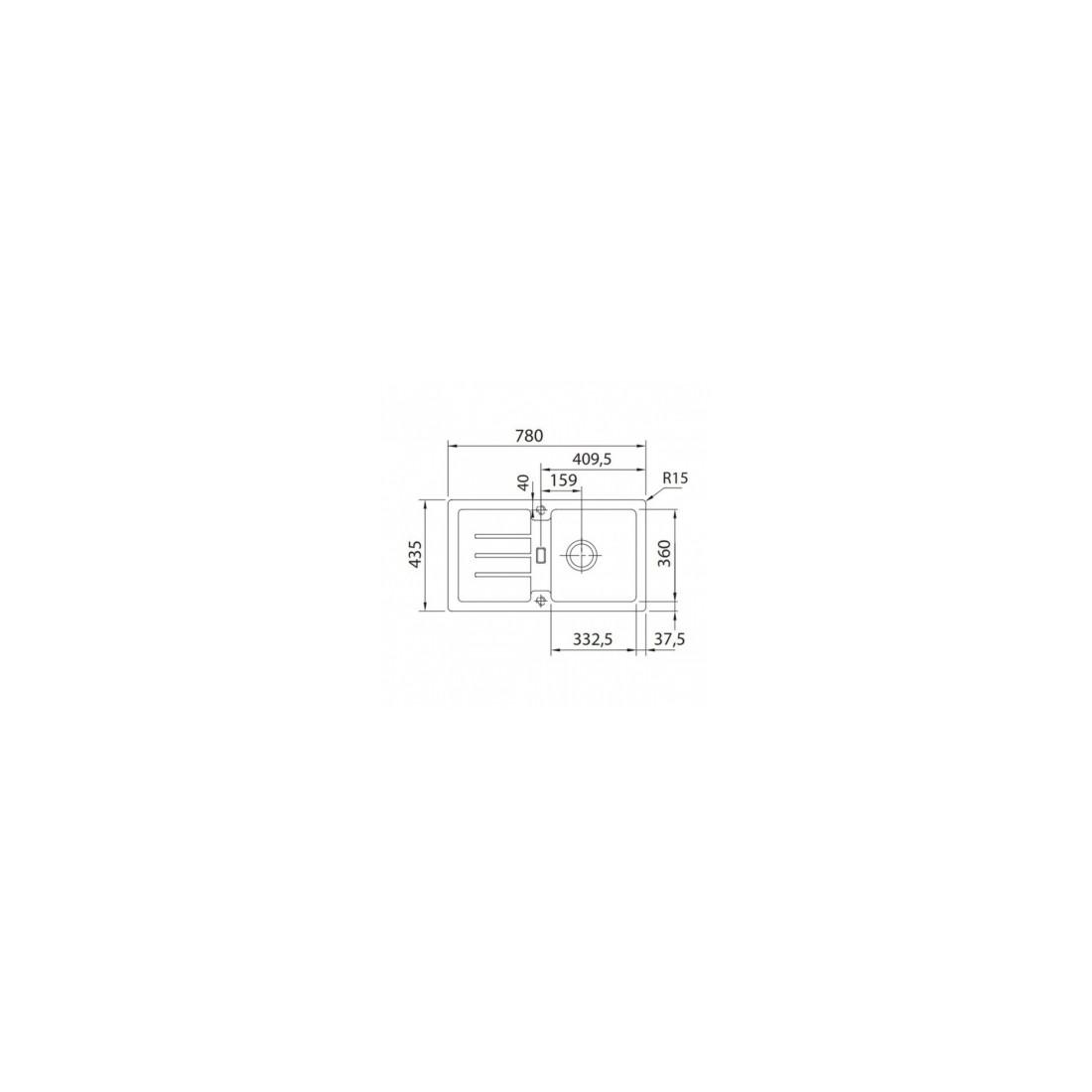 Akmens masės plautuvė Franke Strata, STG 614-78, Beige, ekscentrinis ventilis