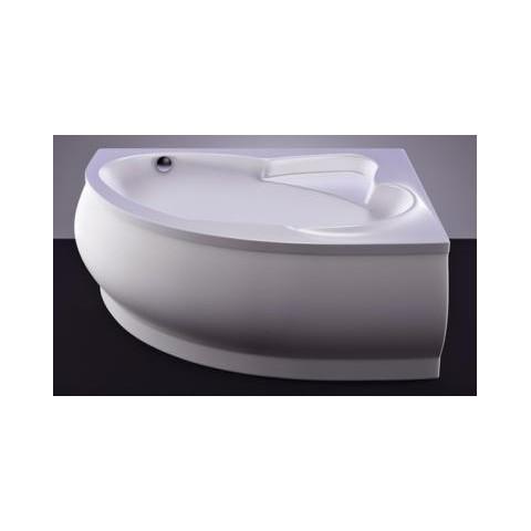 Akmens masės vonia Vispool Marea, 170x110 kairinė balta