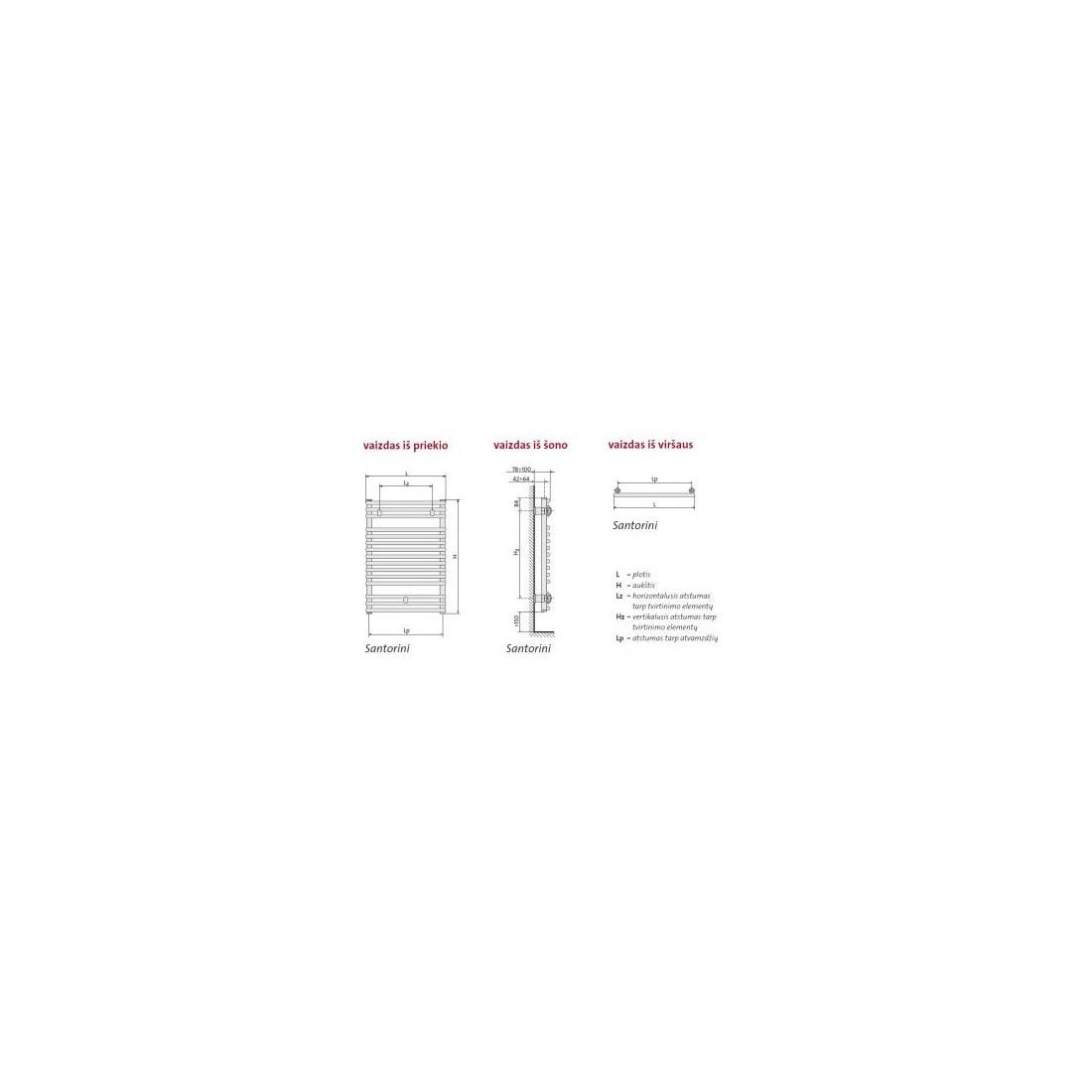 Rankšluosčių džiovintuvas PURMO SANTORINI , 400-1134 465 W