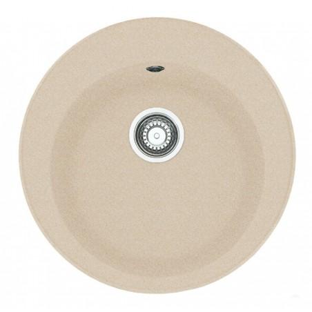 Akmens masės plautuvė Franke Ronda ROG 610-41, ekscentrinis ventilis, Beige