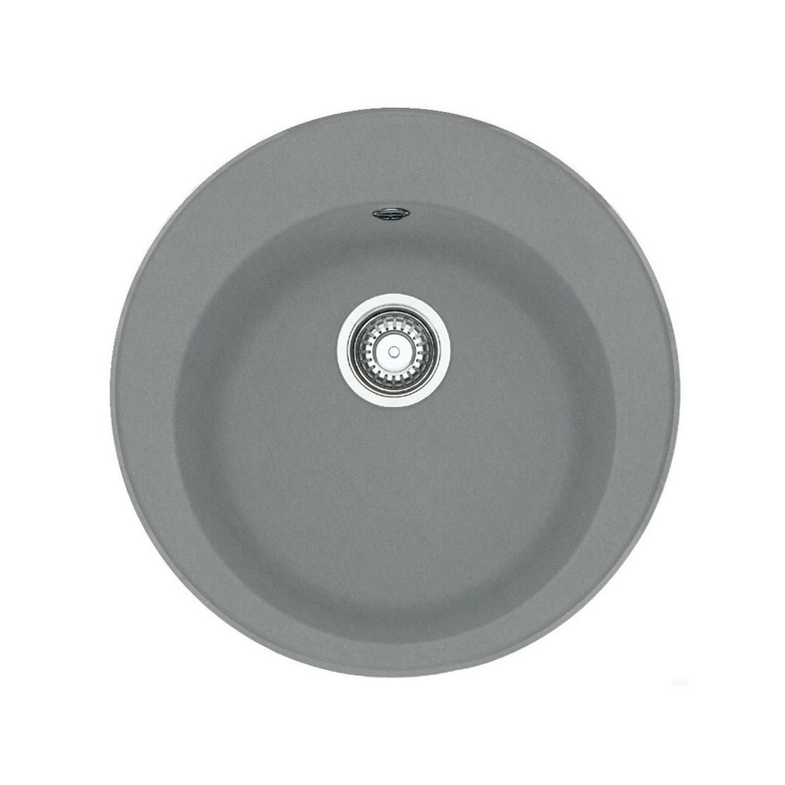 Akmens masės plautuvė Franke Ronda ROG 610-41, užkemšamas ventilis, Steingrau