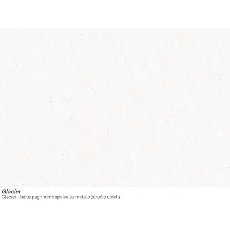 Akmens masės plautuvė Franke Ronda ROG 610-41, užkemšamas ventilis, Glacier