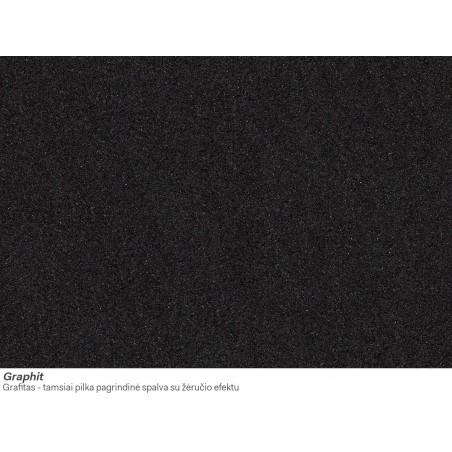 Akmens masės plautuvė Franke Ronda ROG 610-41, užkemšamas ventilis, Graphit