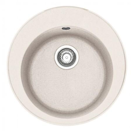 Akmens masės plautuvė Franke Ronda ROG 610-41, ekscentrinis ventilis, Magnolia