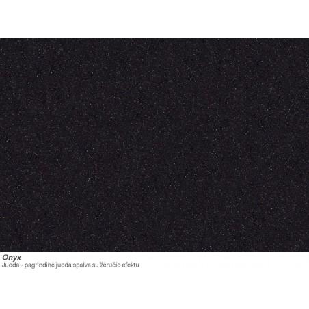 Akmens masės plautuvė Franke Ronda ROG 610-41, ekscentrinis ventilis, Onyx