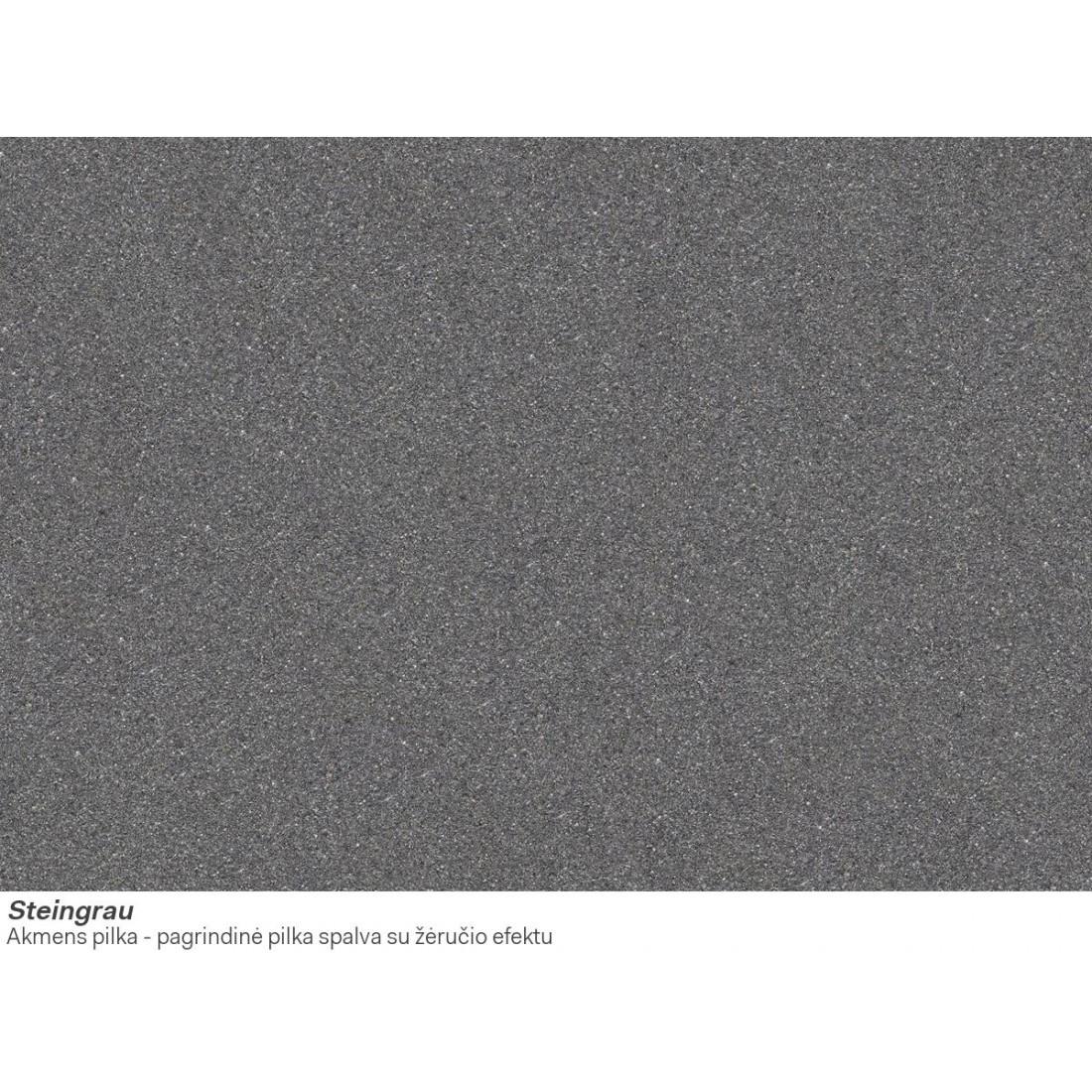 Akmens masės plautuvė Franke Basis BFG 611-78, Steingrau