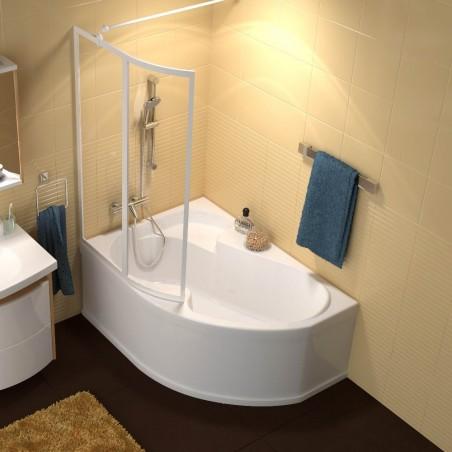 Akrilinė asimetriška vonia Ravak Rosa I, 150x105 cm, kairinė