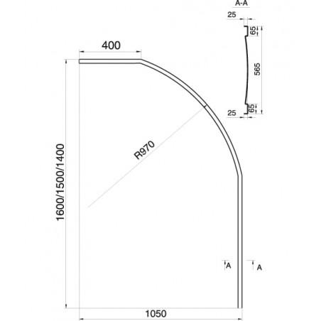 Vonios apdaila Ravak Rosa I, 160 (L/R)