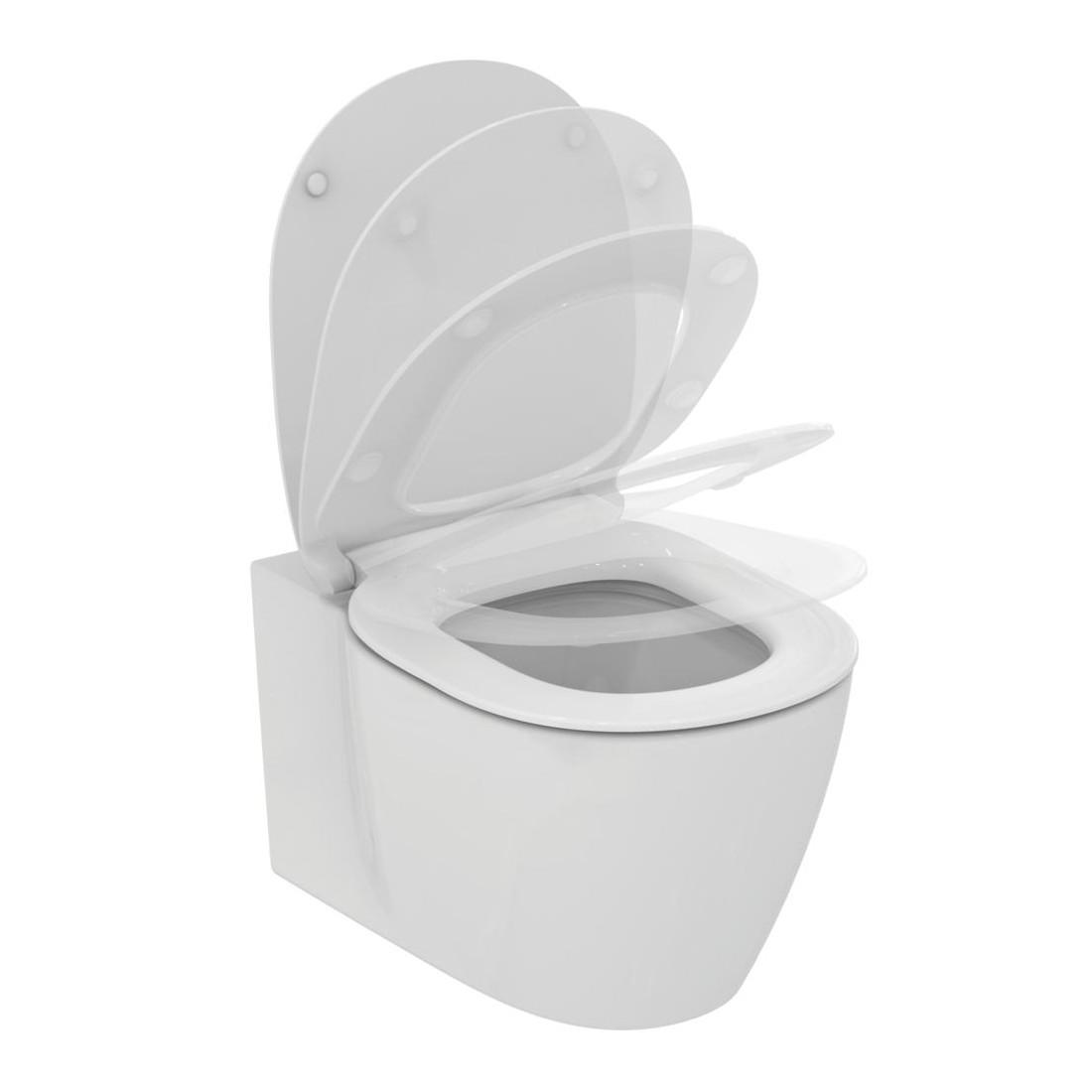 WC pakabinamas Ideal Standard Connect, Aquablade, su paslėptais tvirtinimais