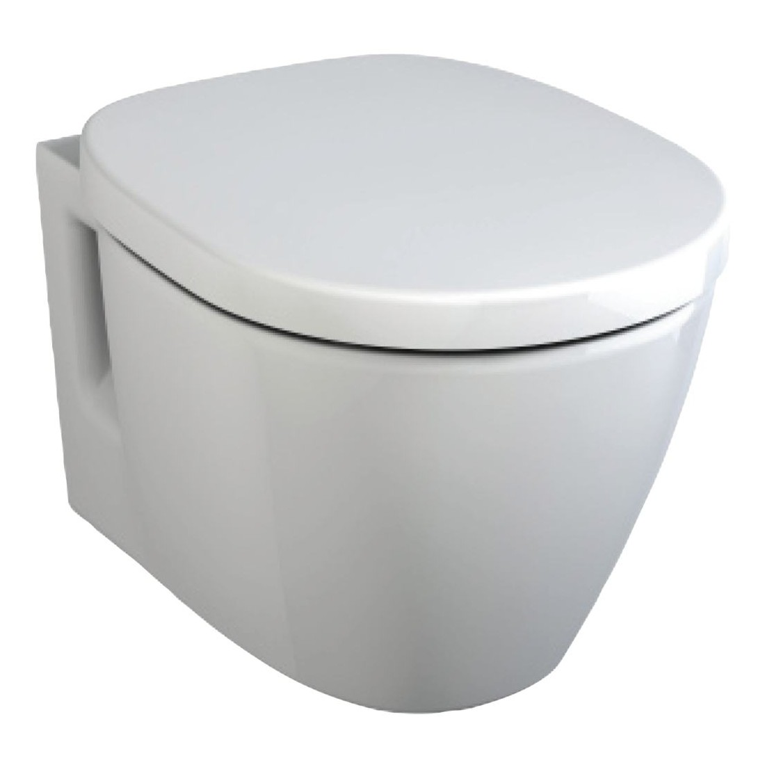 WC pakabinamas Ideal Standard Connect, Space, su matomais tvirtinimais