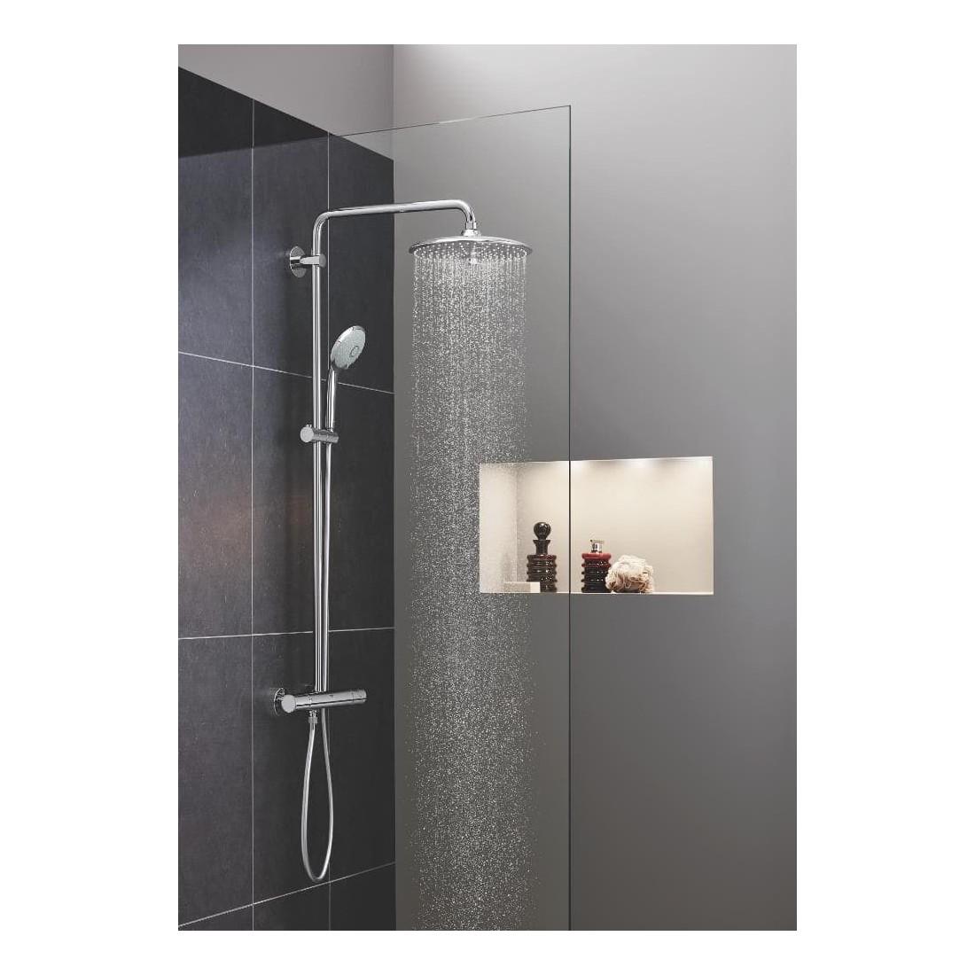 Stacionari dušo sistema Grohe, Euphoria 260, su termostatiniu maišytuvu ir lietaus zonų reguliavimu