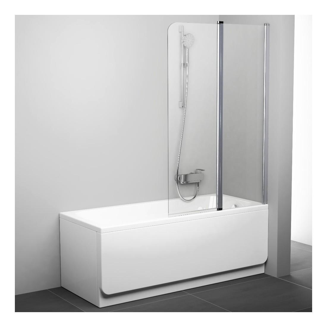 Vonios sienelė Ravak Chrome CVS2 100, dešinė, baltas profilis