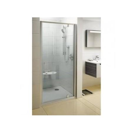 Dušo durys varstomos PDOP1-90, Balta + Transparent