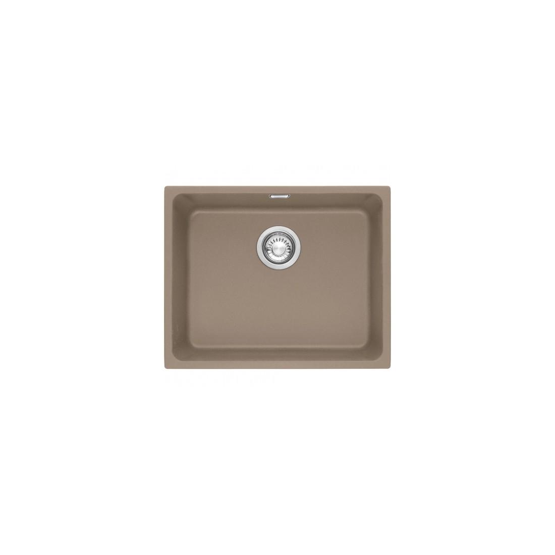 Akmens masės plautuvė Franke Kubus KBG 110-50, ekscentrinis ventilis, Cashmere