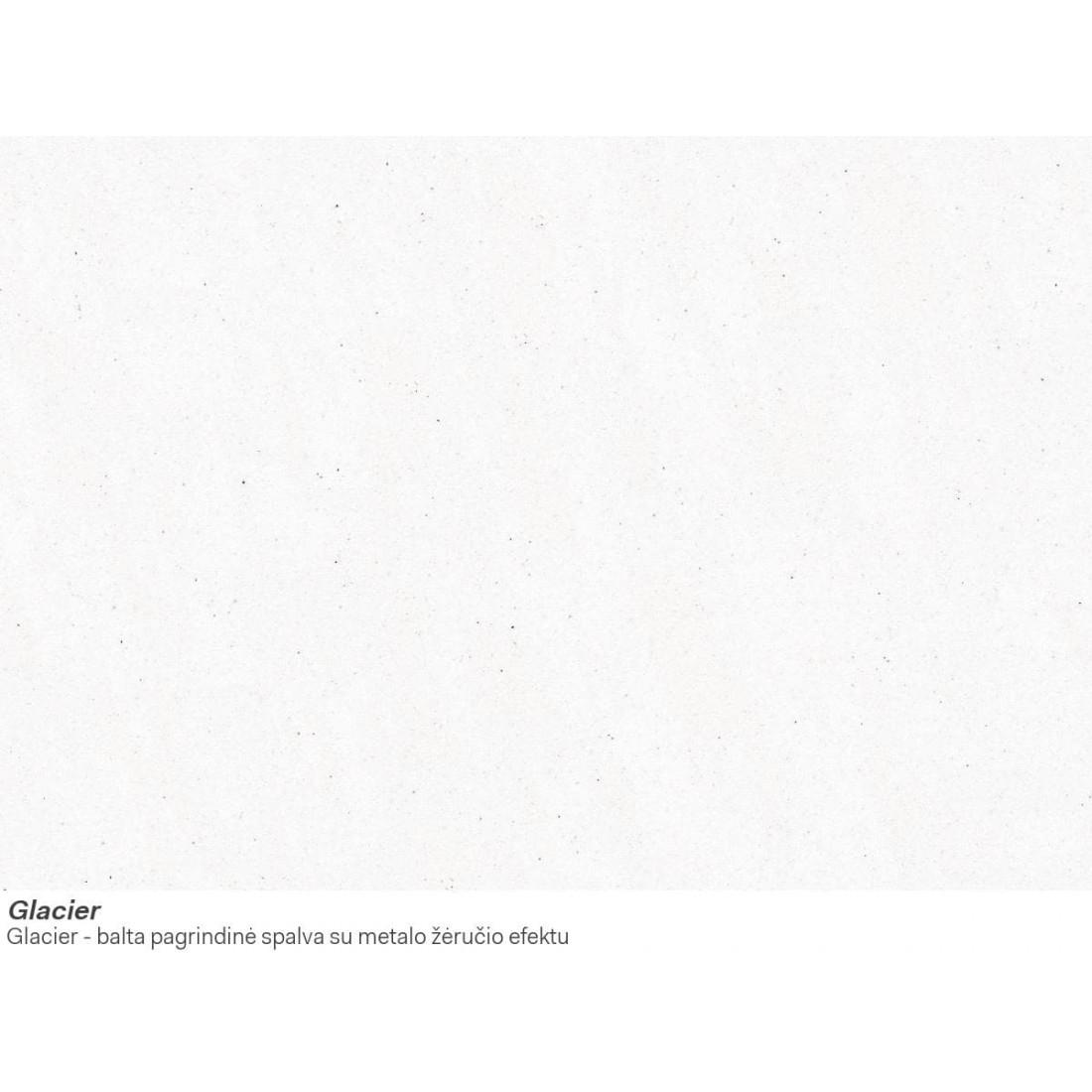 Akmens masės plautuvė Franke Kubus KBG 110-34, ekscentrinis ventilis, Glacier