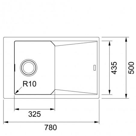 Akmens masės plautuvė Franke FX FXG 611-78, Onyx