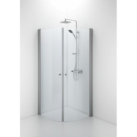 Lenkta dušo dienelė Ifo Space 2000, 90 cm, matinis stiklas, su rankenėle