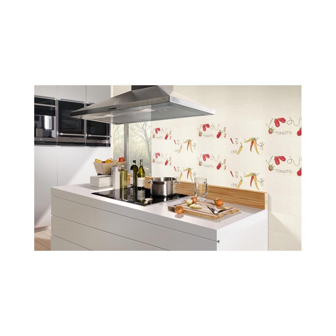 Glazūruotos keraminės virtuvs plytelės Etna 17x45cm