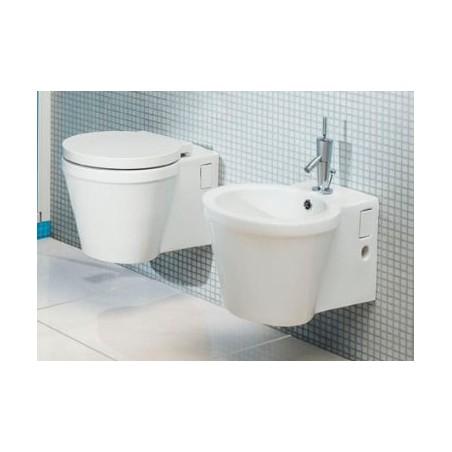 Pakabinamas WC ir bide Reflex, Sanindusa su lėtaeigiu dangčiu