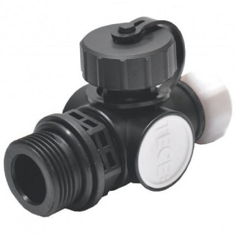 TECE užpildymo/ drenažo ir nuorinimo mazgas nerūdijančio plieno kolektoriams. Plastikas