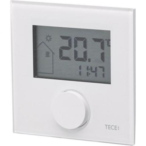 TECEfloor elektroninis kambario termostatas RT-D, LC - ekranas, stiklinis paviršius