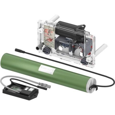 TECEplanus nerūdijančio plieno vandens nuleidimo plokštelė su nuotolinio valdymo mechanizmu, 6 V baterija
