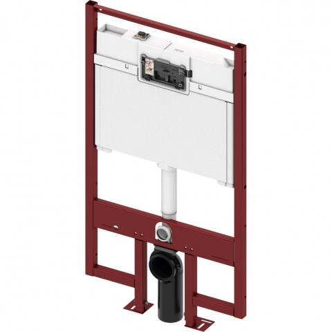 TECEprofil WC modulis 8 cm storio. Valdymas iš priekio, montavimo aukštis 1200 mm