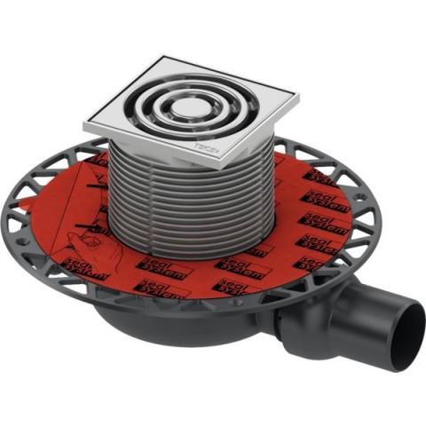 """TECEdrainpoint S 110 trapo komplektas, horizontalus,  ypač plokščias, su """"Seal System"""" universaliu fanšu"""