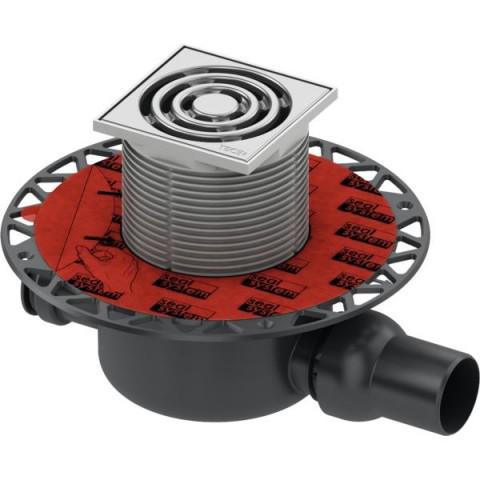 """TECEdrainpoint S 120 trapo komplektas, standartinis, horizontalus, su  """"Seal System"""" universaliu fanšu"""