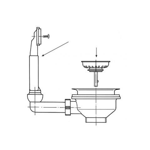 Ventilis FRANKE plautuvės, d 3&039&0391/2, užkemšamas, EFN 610