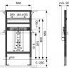 TECEprofil universalus praustuvo modulis, montavimo aukštis 980 mm