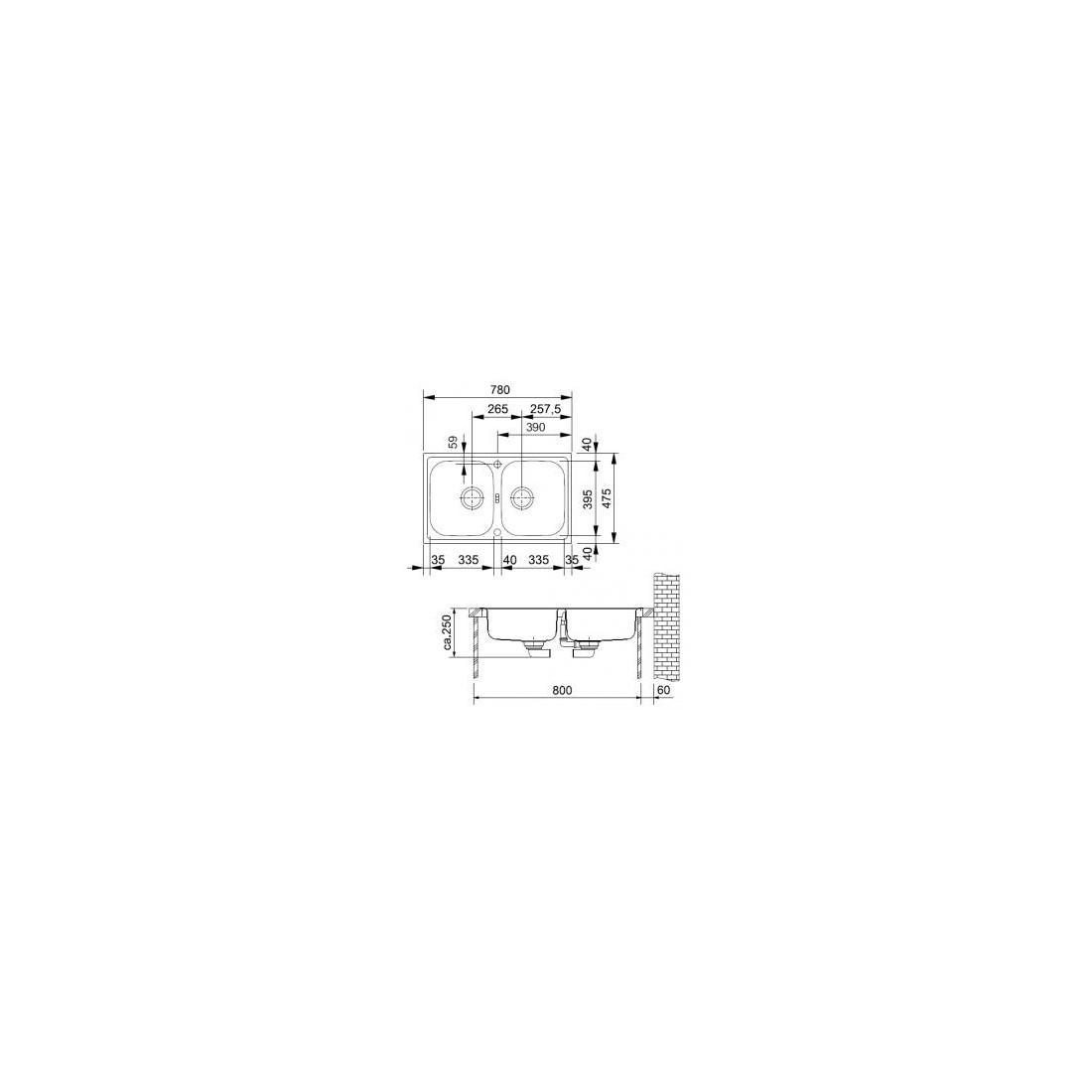 Plieninė plautuvė FRANKE EFX 620-78