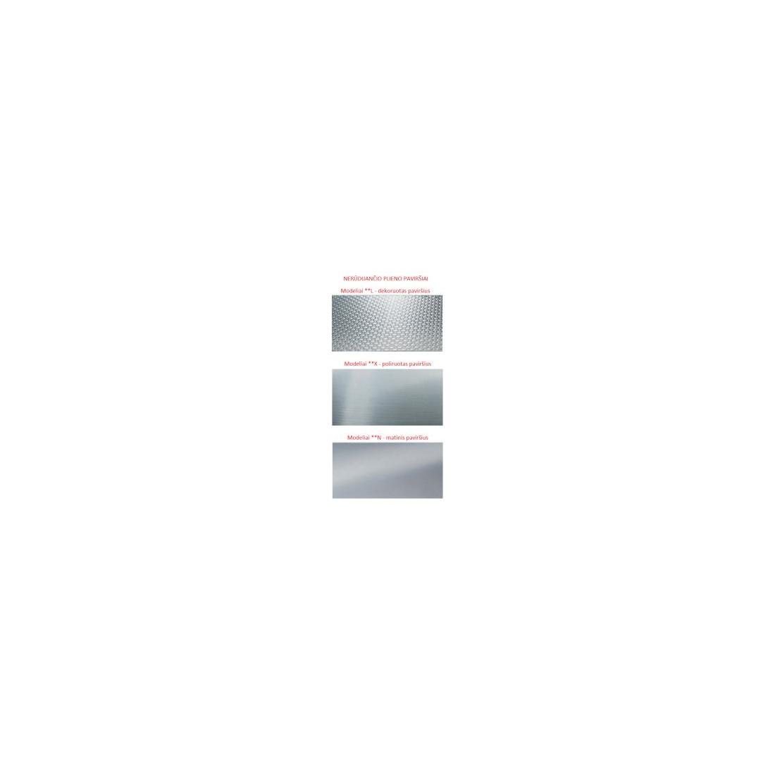 Plieninė plautuvė FRANKE MOX 260 su ekscentriniu ventiliu ir plastikiniu indu, SlimTop