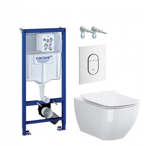 WC rėmo komplektas Grohe Rapid SL, su Opoczno Metropolitan Clean-On ir soft-close dangčiu