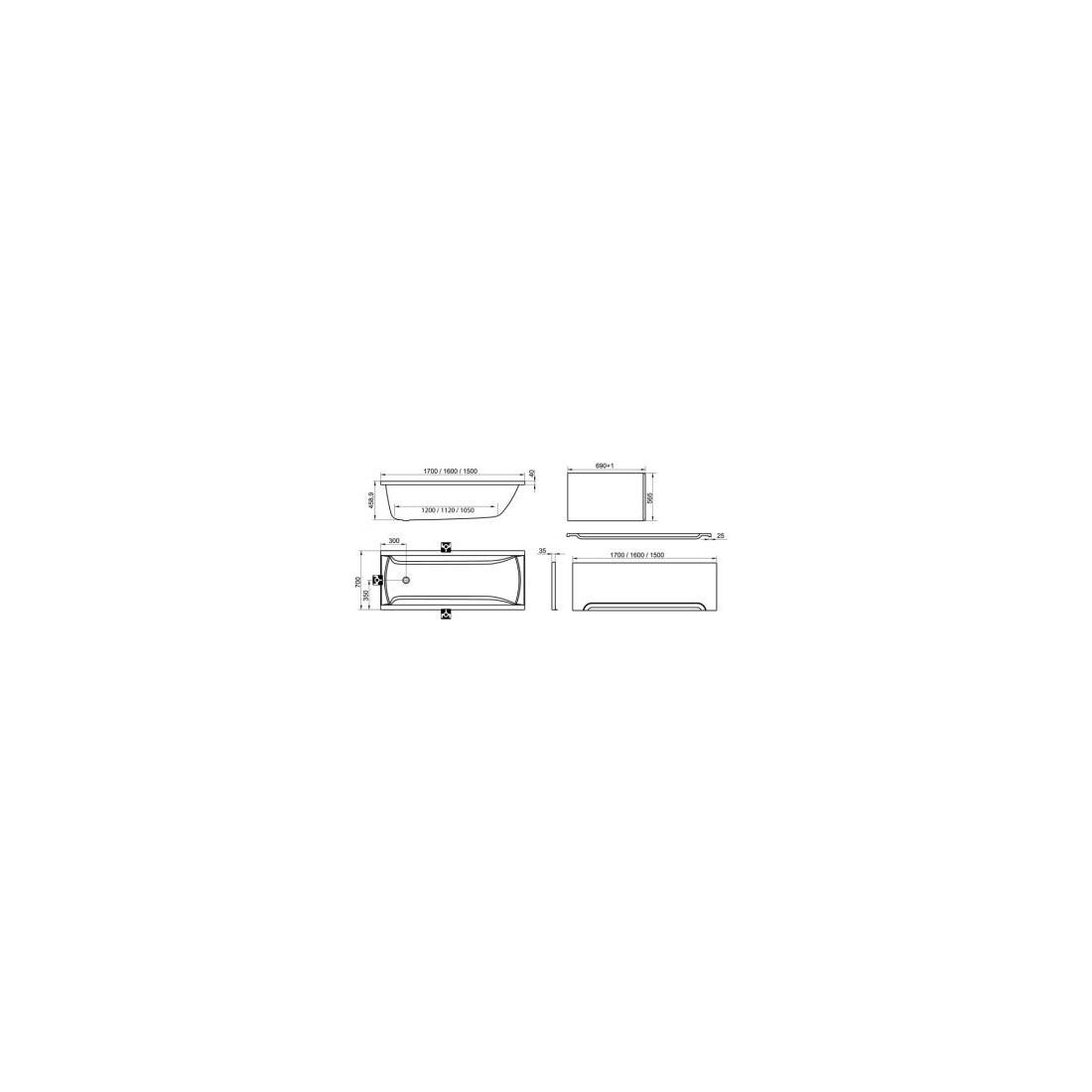 Akrilinė vonia RAVAK Classic N, 150x70