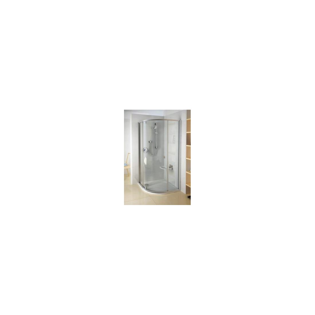 Dušo kabina PSKK3-100 baltas pr. Transparent