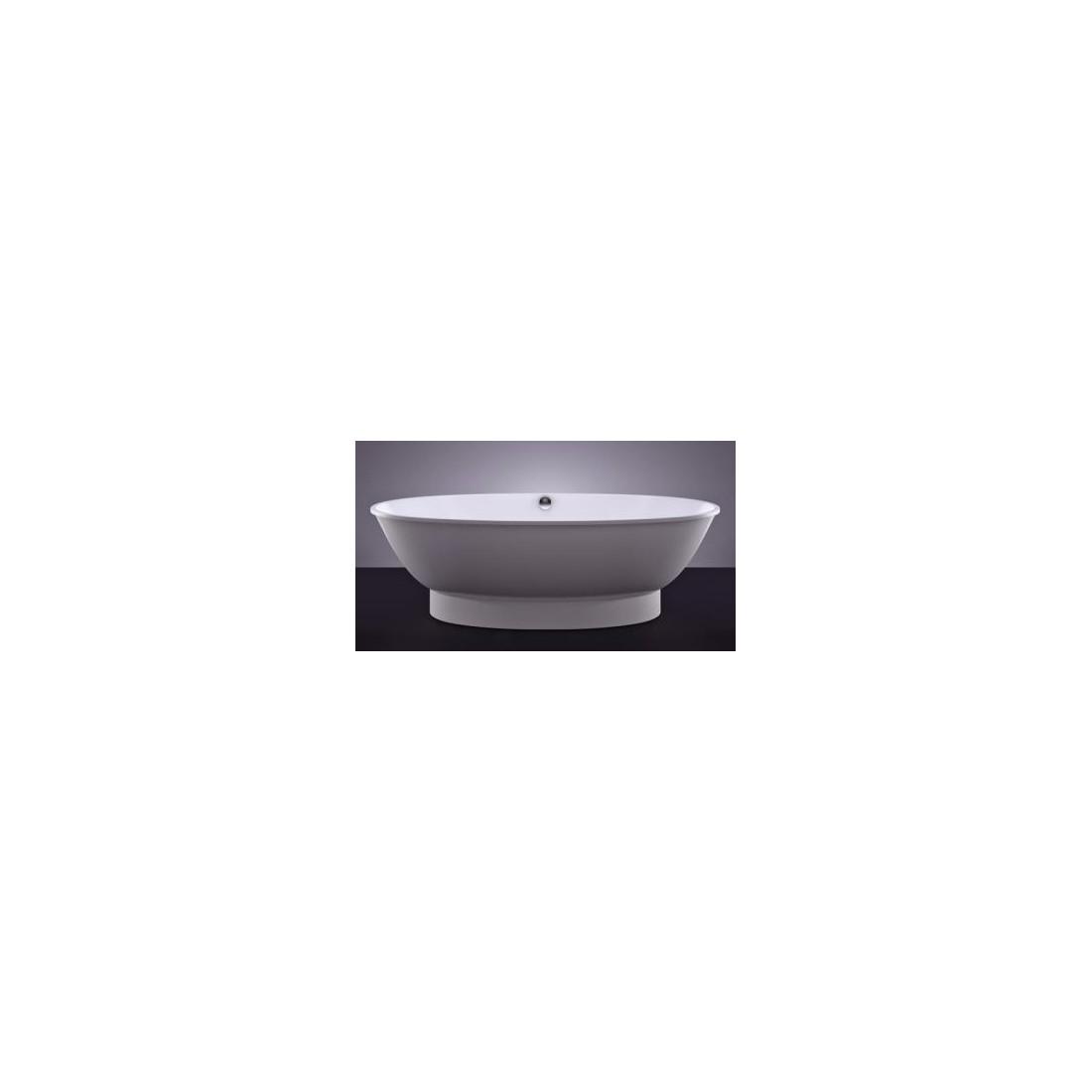 Akmens masės vonia VISPOOL GLORIA 184x90 balta