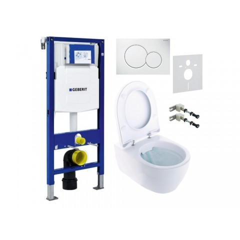WC rėmo komplektas Geberit, Duofix Sigma, su Ifo iCON Rimfree ir soft-close dangčiu