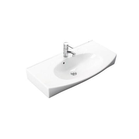 Praustuvas Caprice 87x47,5 cm, tvirt. varžtais, baltas