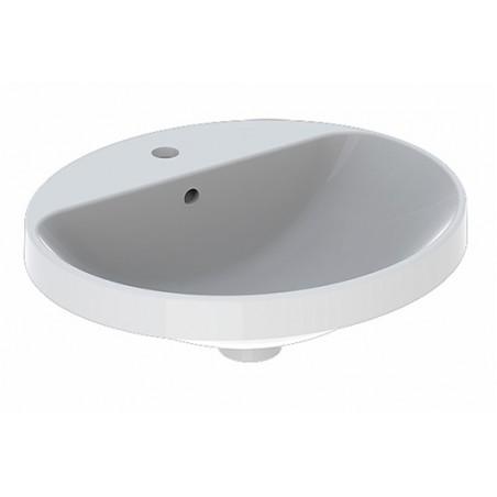 Praustuvas įleidžiamas VariForm 50 cm, ovalus, baltas