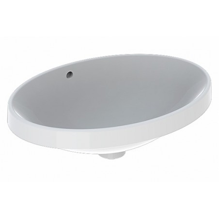 Praustuvas įleidžiamas VariForm 55 cm, ovalus, baltas