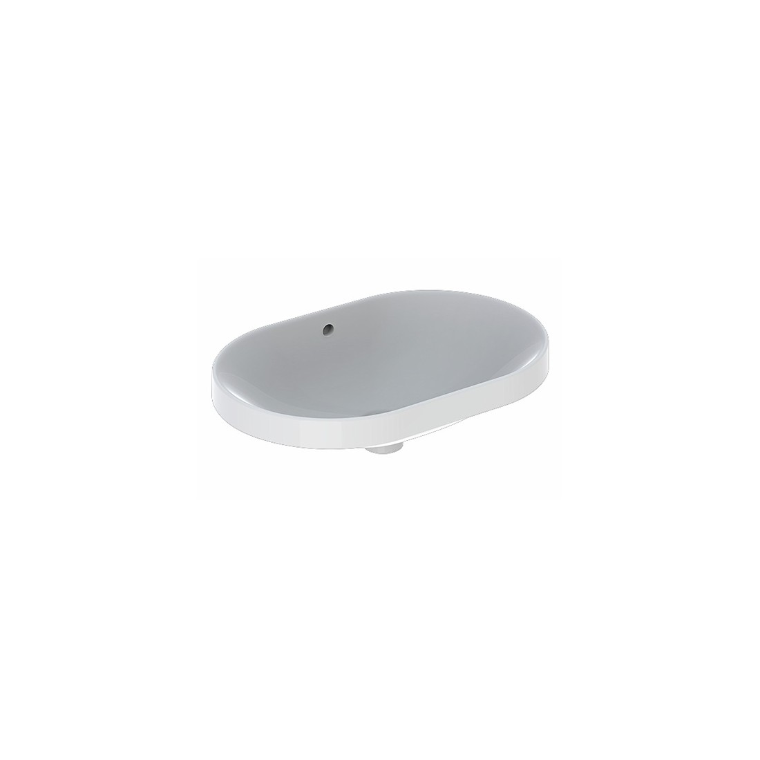 VariForm praustuvas įleidžiamas, baltas, elipsės formos, 60 cm