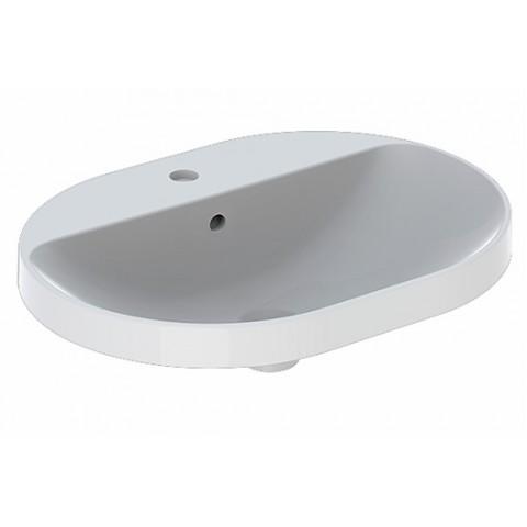 Praustuvas įleidžiamas VariForm 60 cm, elipsės formos, baltas