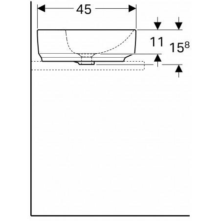 VariForm pastatomas praustuvas, baltas, ovalus, 60 cm