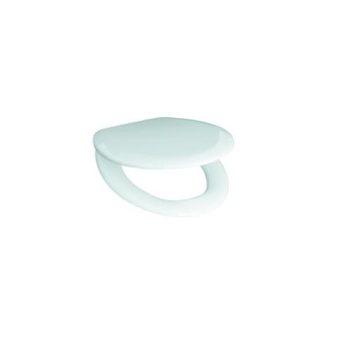 Sėdynė su dangčiu ZETA NEW, termoplastikas, plieniniai lankstai, baltas