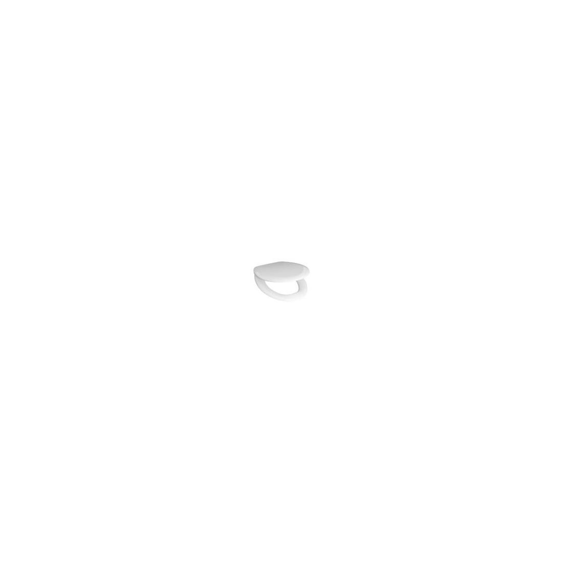 Sėdyne su dangčiu Zeta su soft close mech., kietas plastikas, plast. sąv., baltas