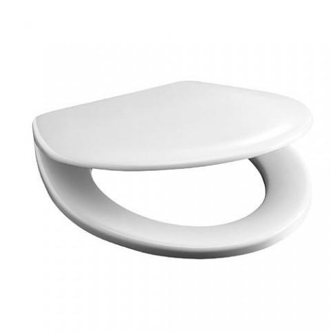 Antibakterinė sėdynė su dangčiu Deep/ LYRA BALTIC, plastikiniai lankstai