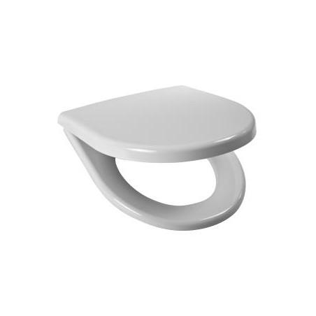 Sėdynė su dangčiu LYRAplus, kietas antibakterinis plastikas, nerūdijančio plieno lankstai
