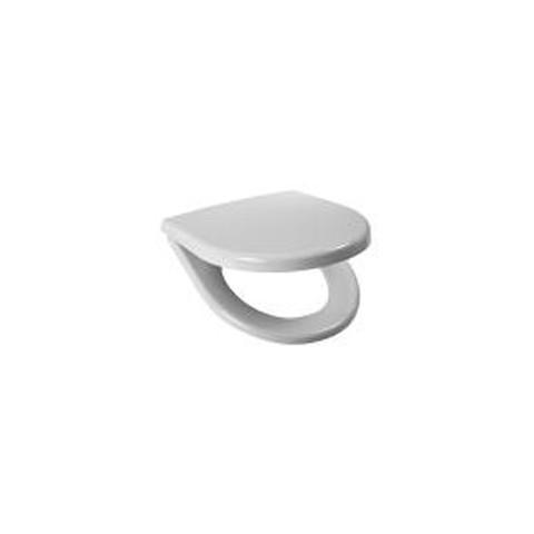 Sėdynė su dangčiu LYRAplus, duroplastas, n. plieno lankstai, baltas